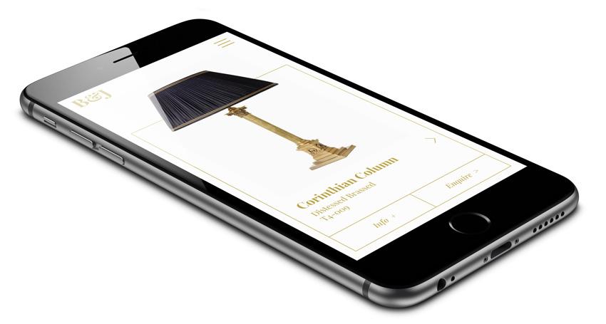 Besselink and Jones mobile website design