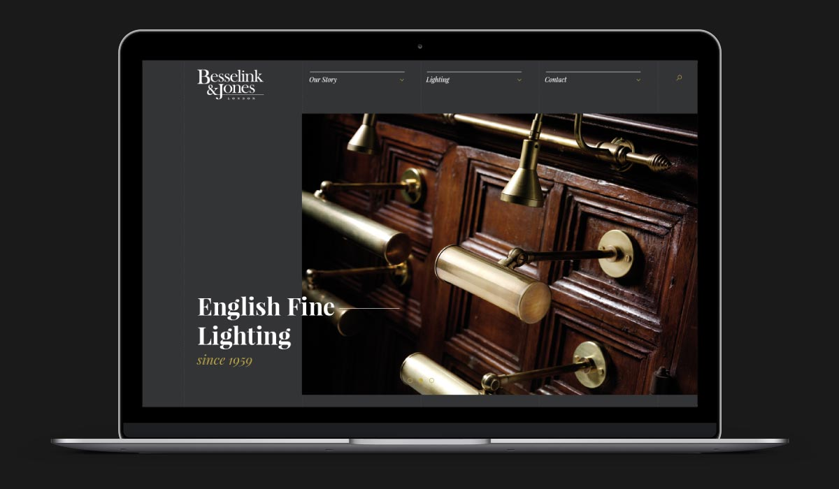 Besselink and Jones responsive website design