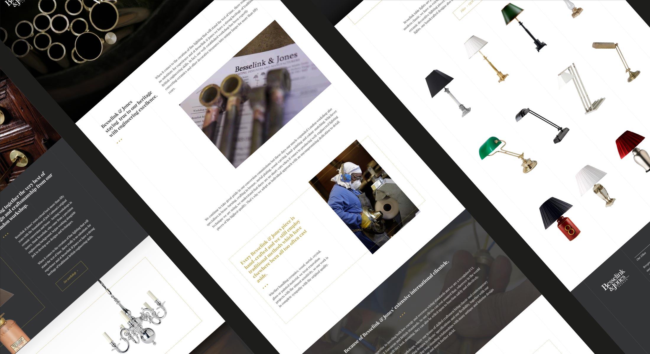 Besselink and Jones website designs