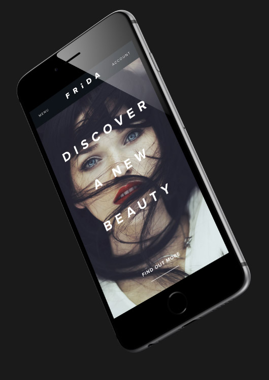 Frida Beauty Mobile Website