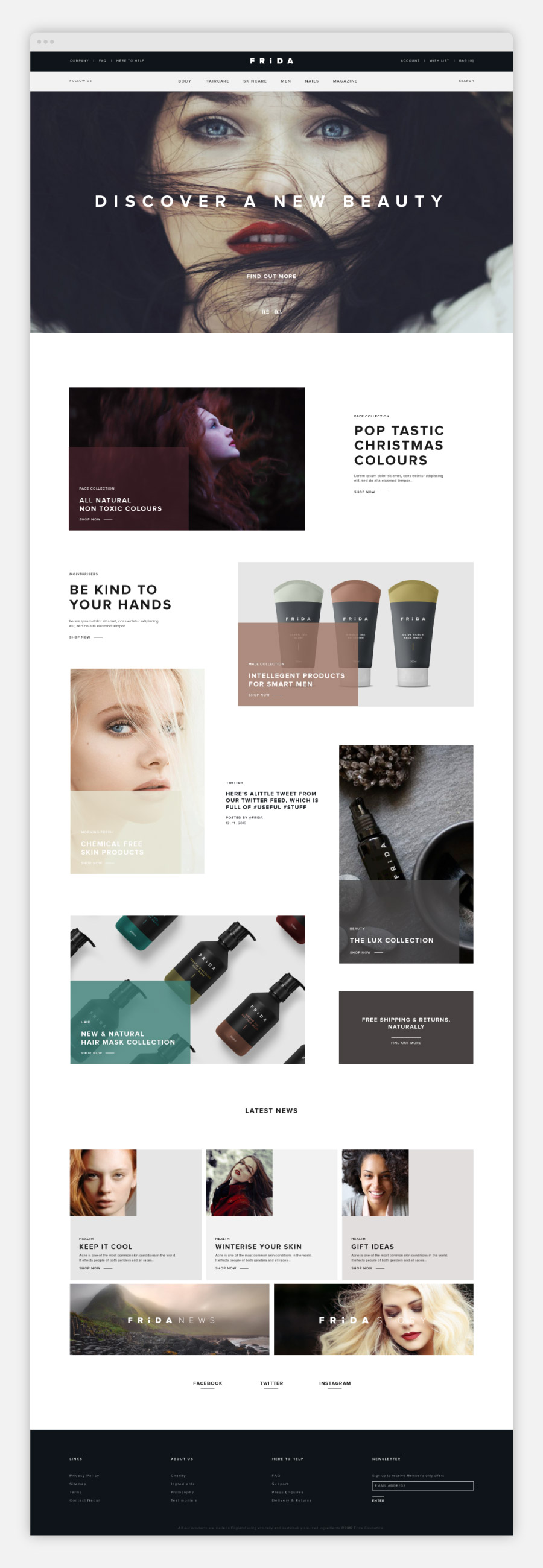 Frida Beauty Website Design