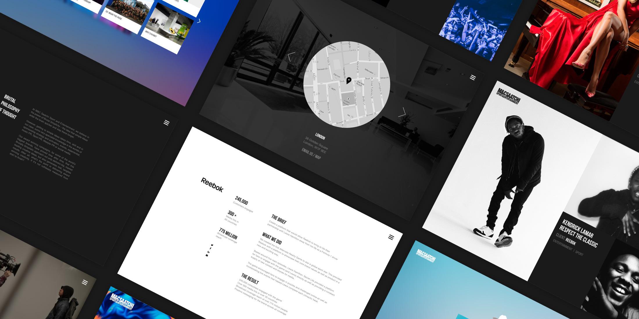 MC Saatchi website design