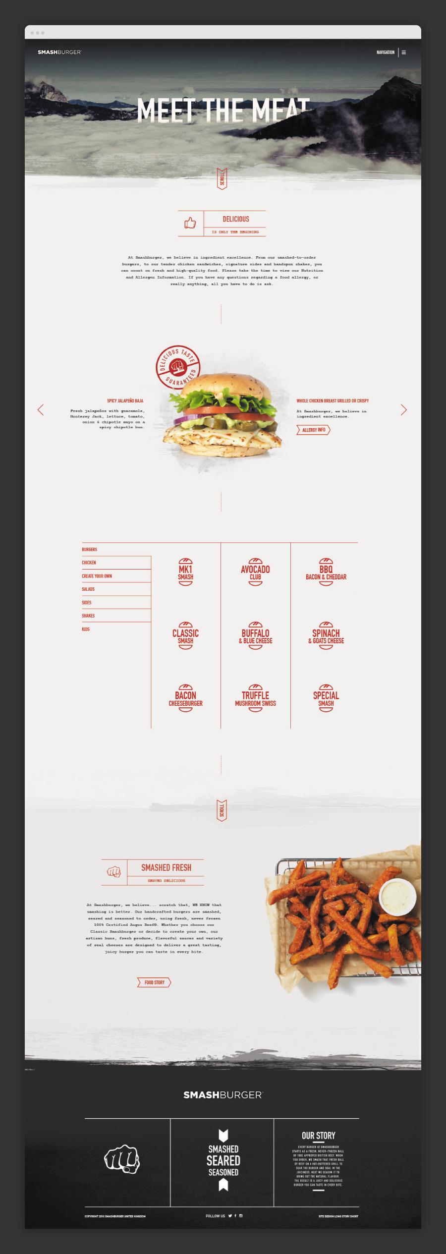 Smash Burger Homepage Design