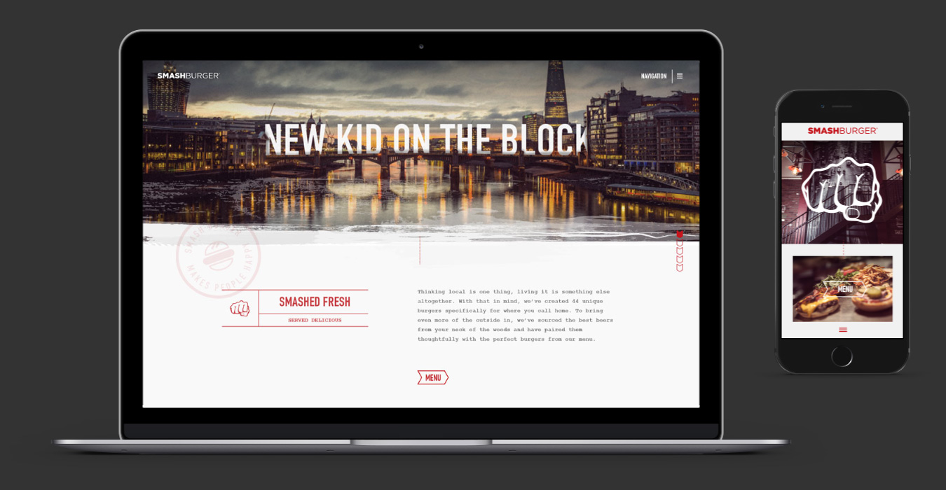 Smash Burger responsive website design