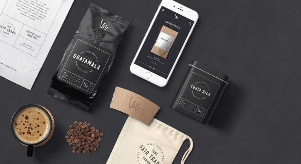 Vim & Vigour branding and packaging pack