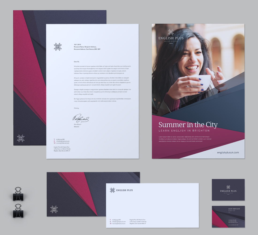 English Plus Corporate Stationery Pack