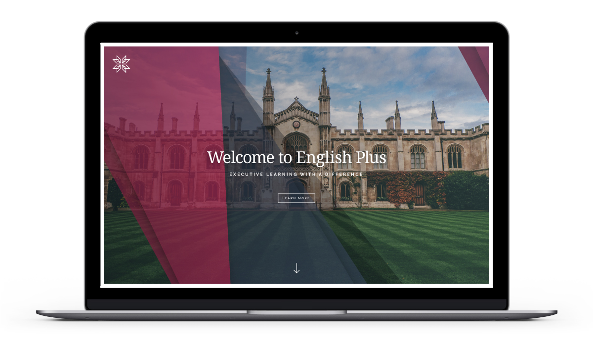 English Plus Website Homepage