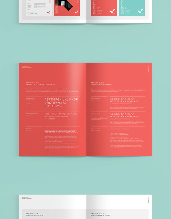 CGP Brand Guidelines on a Mint Green Background