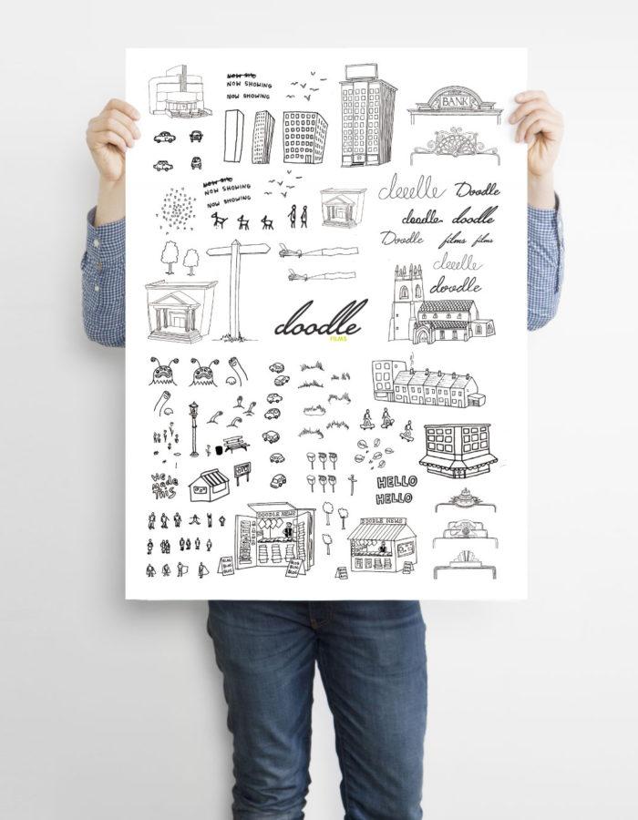 Doodle Films Illustration Poster