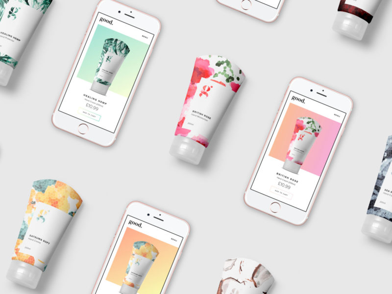 Good Cosmetics Packaging and Mobile Website Design