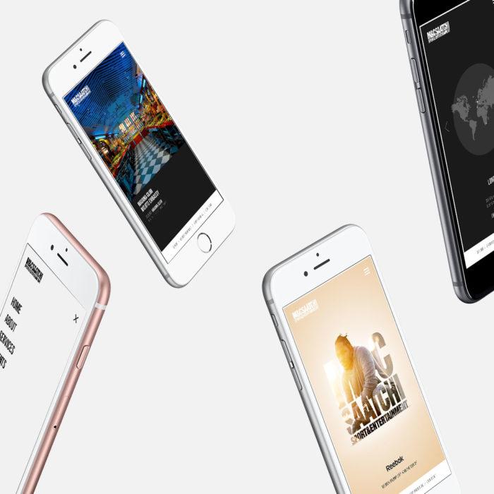 MC Saatchi mobile website