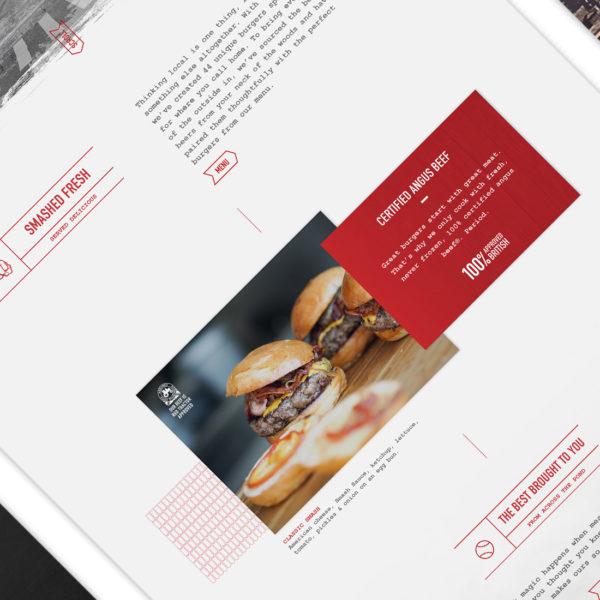 Smash Burger website design