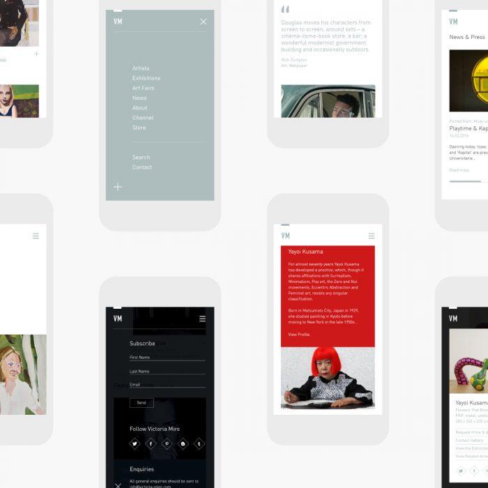 victoria miro mobile website design